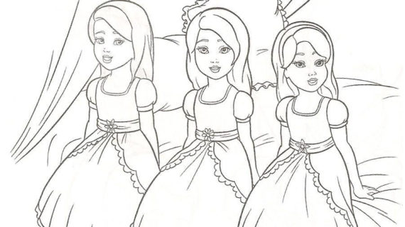 570x320 Barbie Princess Drawing Pages Barbie In A Mermaid Tale Coloring