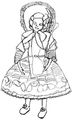 250x410 How To Draw A Doll