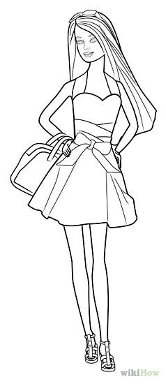 238x550 Pencil Sketches Of Barbie Dolls