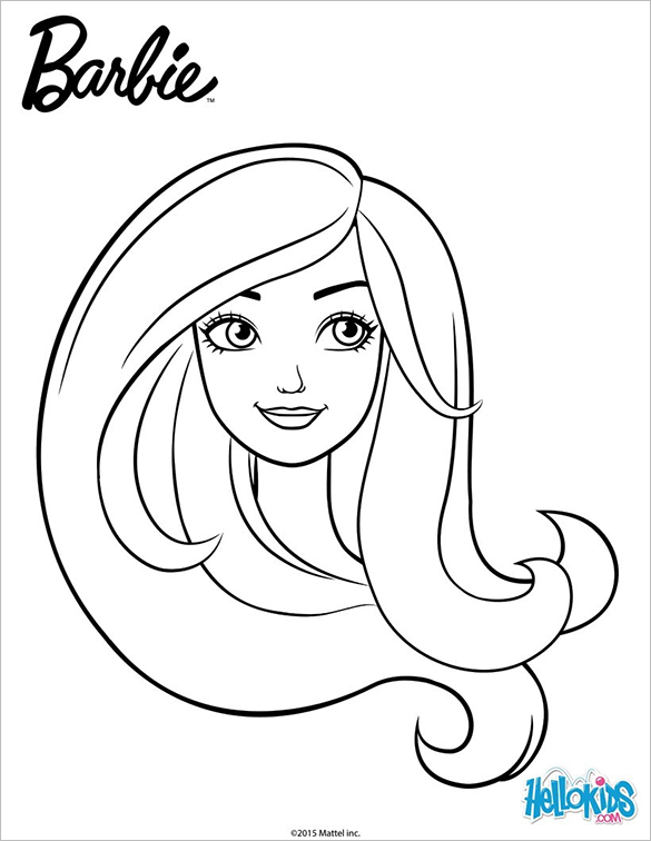 585x756 Barbie Coloring Pages Free Printable Word, Pdf, Png, Jpeg