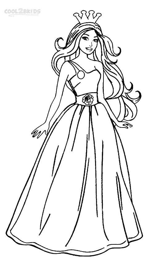502x850 Barbie Princess Coloring Pages Drawing