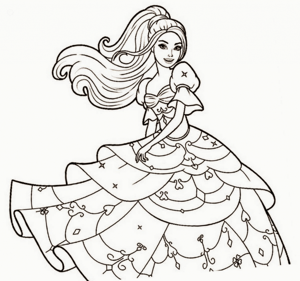 1024x959 Barbie Doll Drawing Pictures