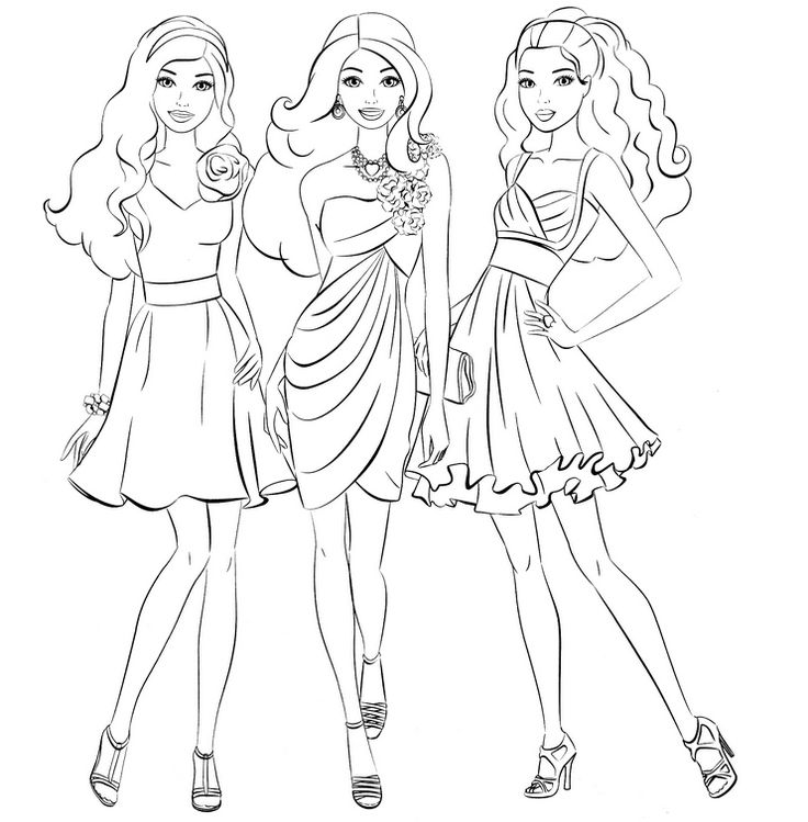 736x749 Attractive Inspiration Barbie Princess Coloring Pages Free