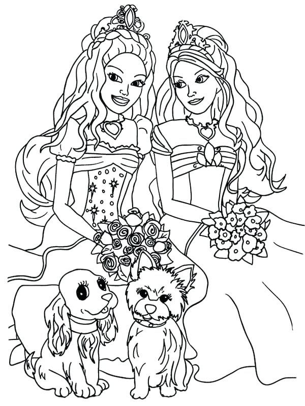 Exhilarating image regarding free printable barbie coloring pages