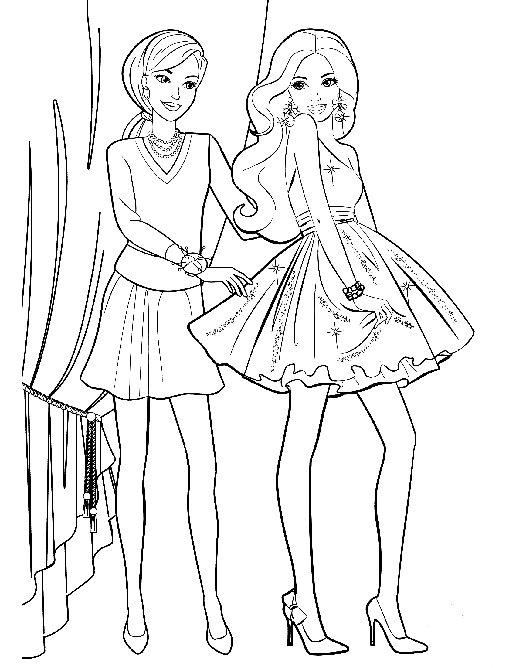 Coloring Pages Games 1700x2200 Luxurious And Splendid Barbie Printing Wonderful Design