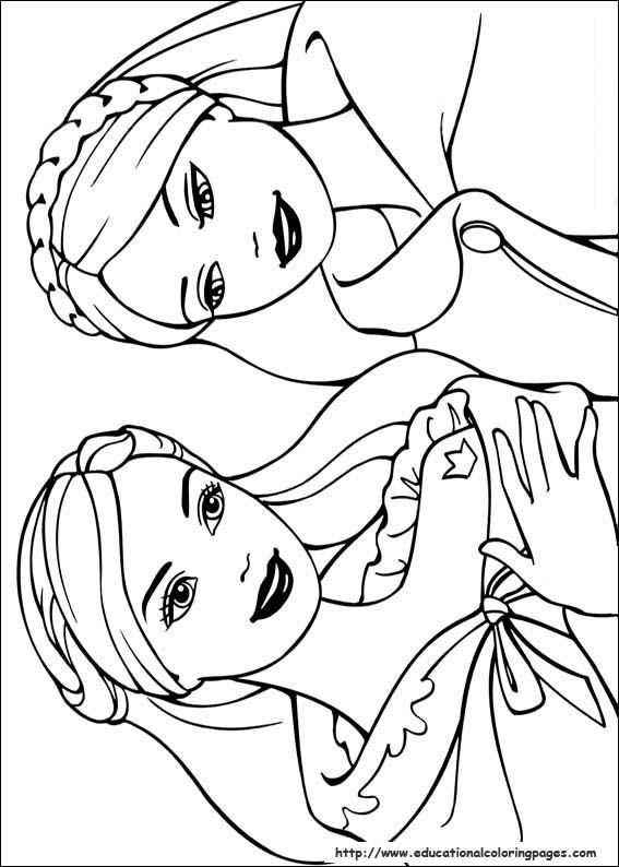 567x794 Barbie Princess Coloring Pages Free For Kids