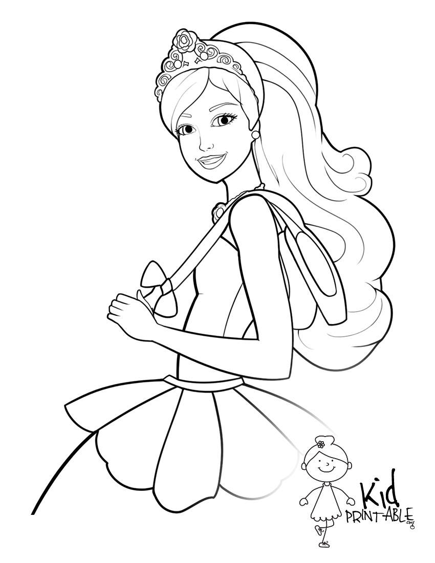 850x1100 85 Barbie Coloring Pages For Girls Princess Friends