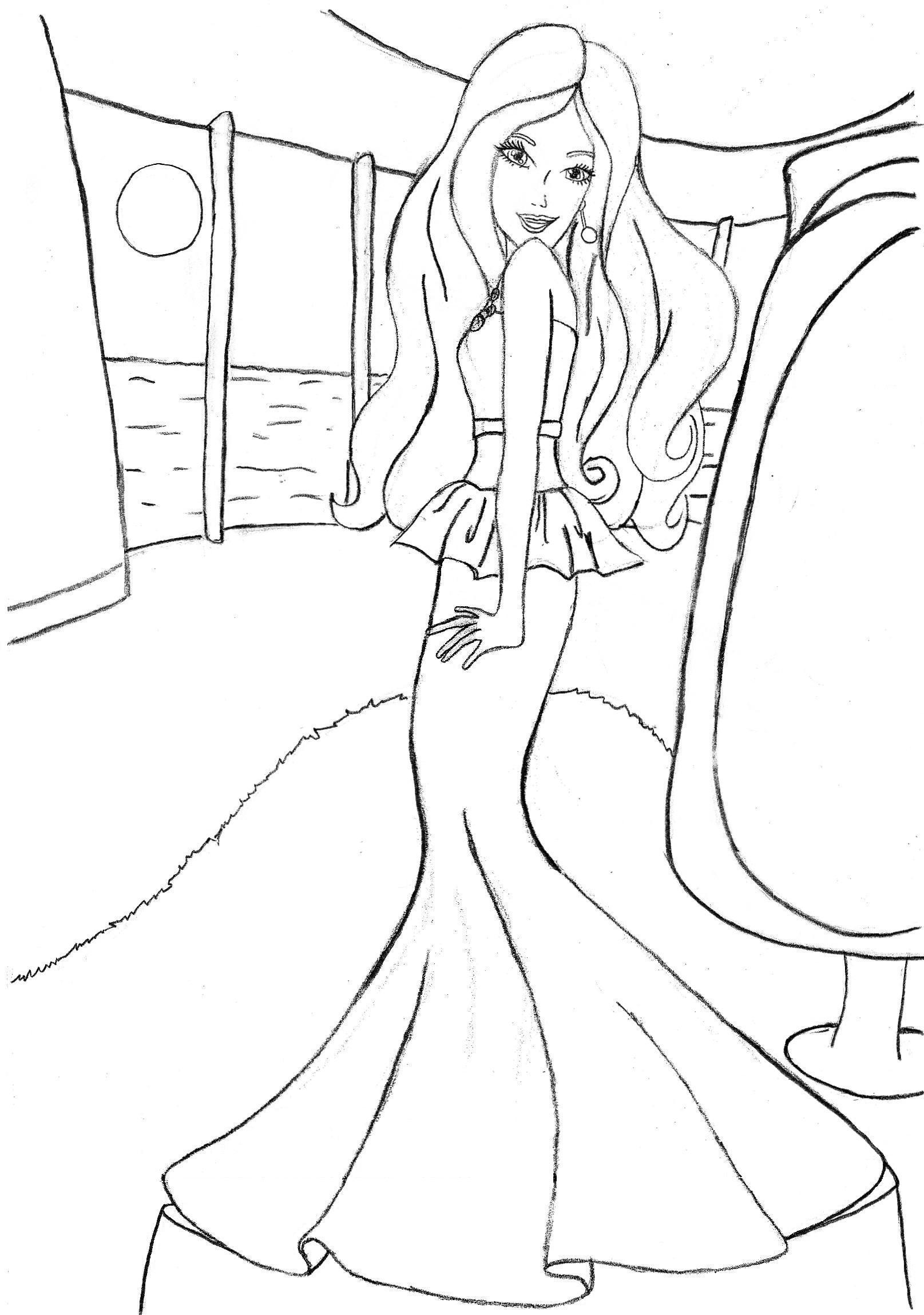 1615x2297 Image 567x794 Inspiring Free Barbie Coloring Pages