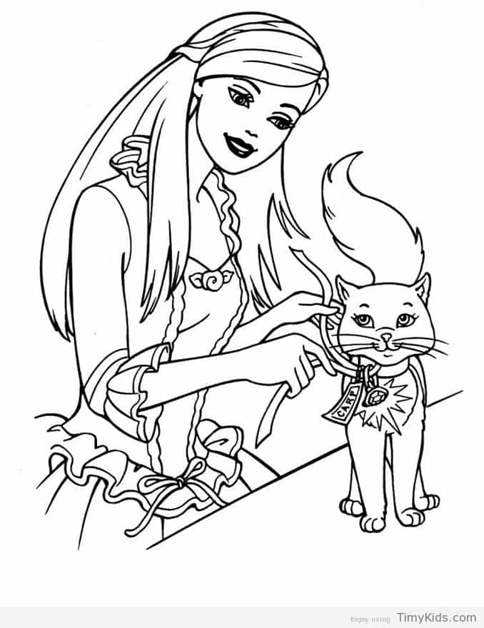 678x880 Printable Barbie Coloring Pages Timykids