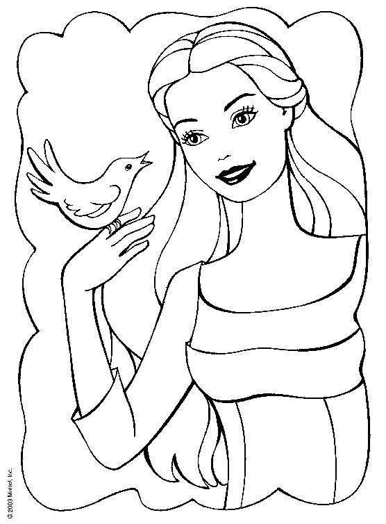 556x754 barbie coloring page game detail on barbie colouring book all - Barbie Coloring Pictures