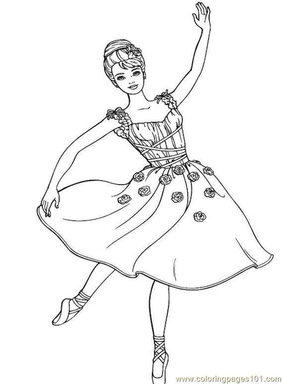 570x774 001 Barbie 80 Coloring Page