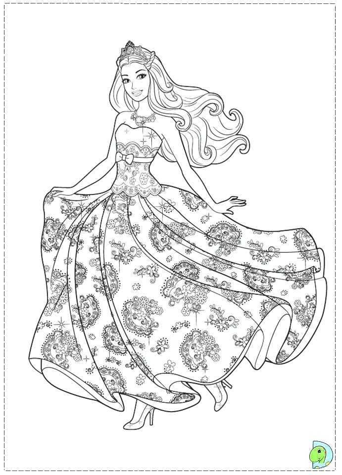 691x960 Barbie Princess Coloring Pages Drawing