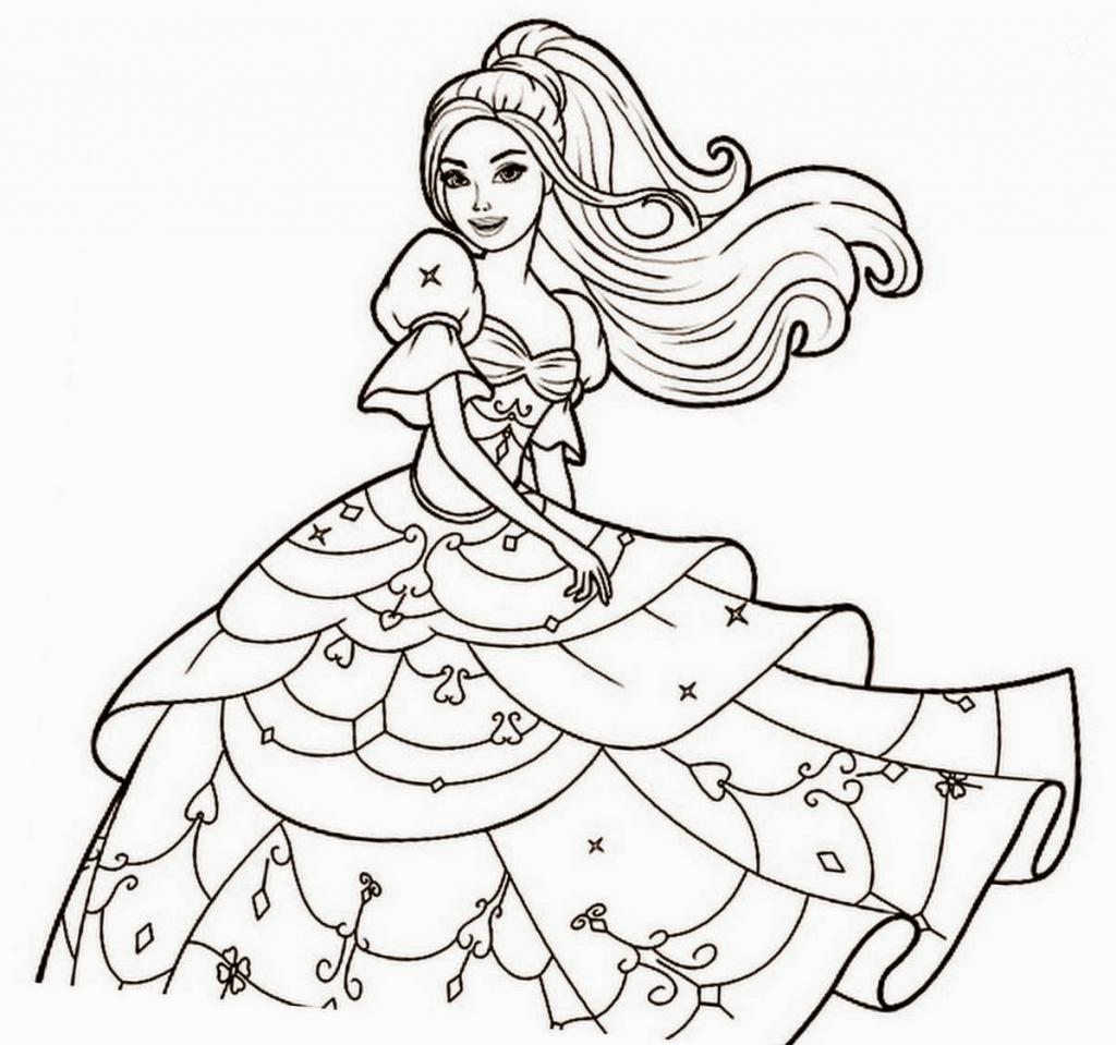 1024x959 Barbie Doll Cartoon Face Sketch