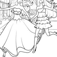 220x220 Barbie THE PRINCESS Amp POPSTAR Coloring Pages