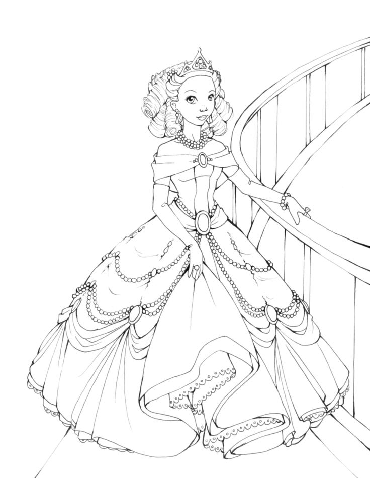 736x950 Drawn Barbie Coloring Page