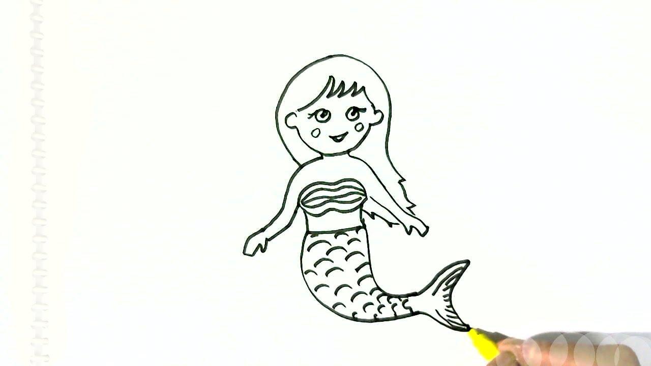 1280x720 Cute Mermaid Drawings How To Draw Barbie Mermaid Chibi