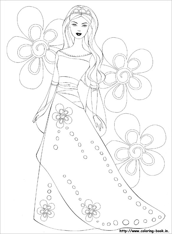 Barbie Line Drawing At GetDrawings