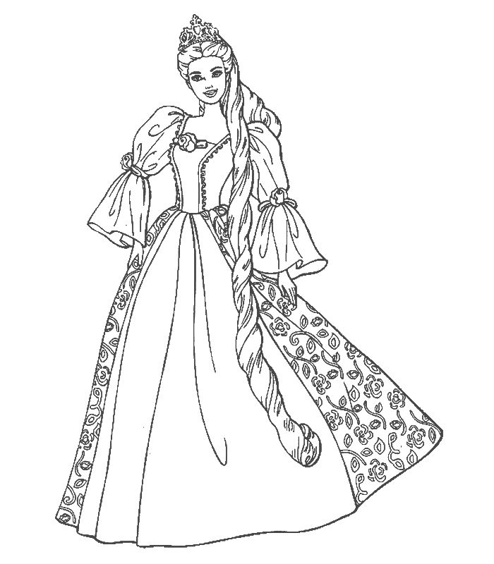 700x800 Cartoon Barbie Coloring Page Many Interesting Cliparts