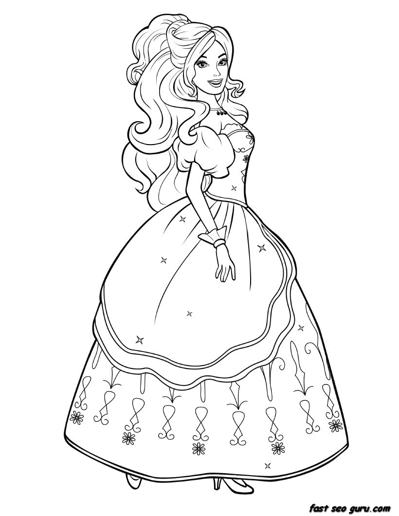 820x1060 Barbie Coloring Pages