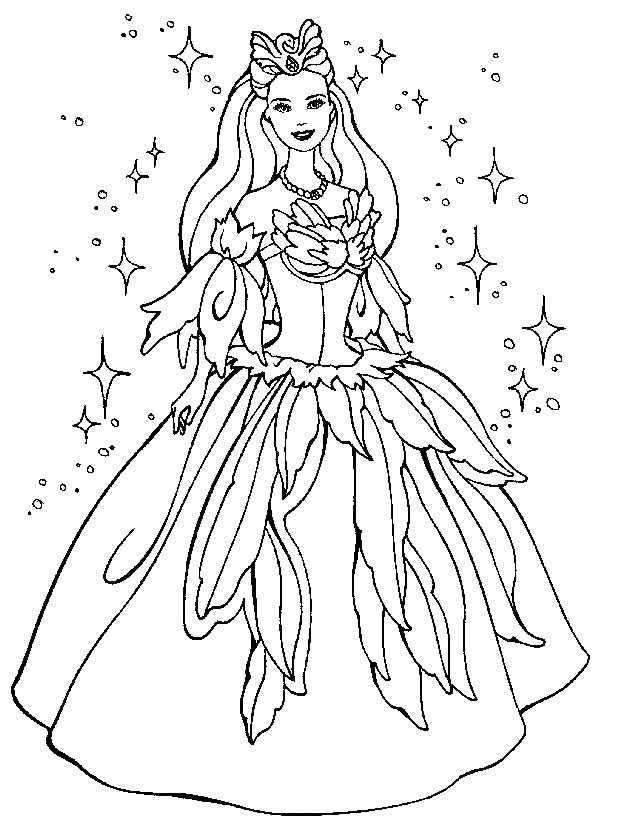625x816 Barbie Doll Coloring Pages For Kids And Ken