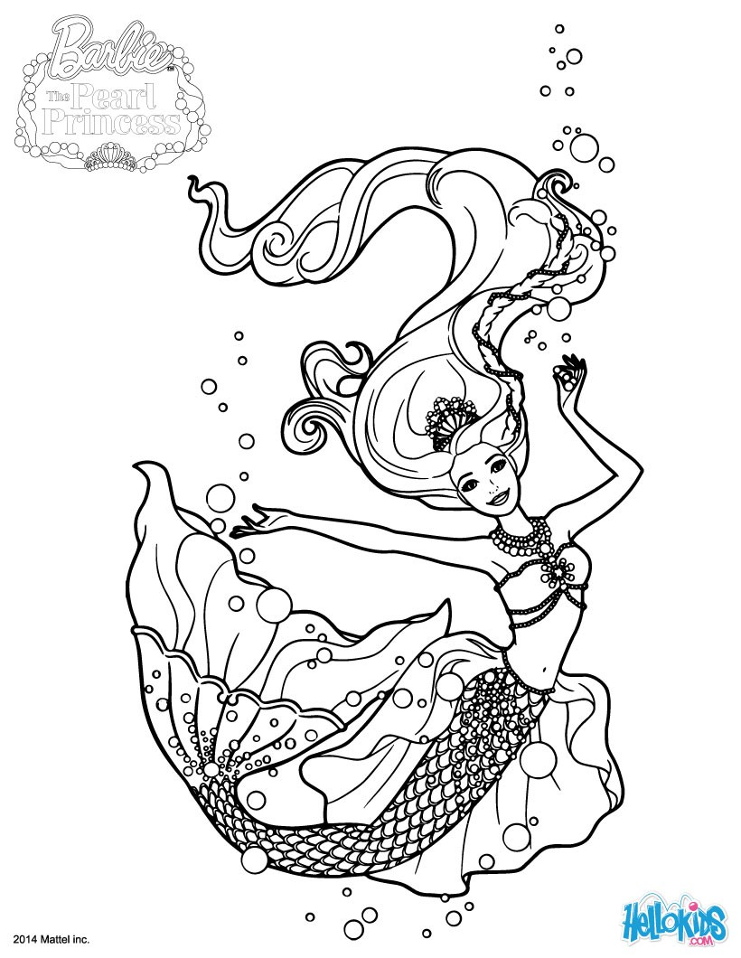 820x1060 Barbie The Pearl Princess Coloring Pages Kids