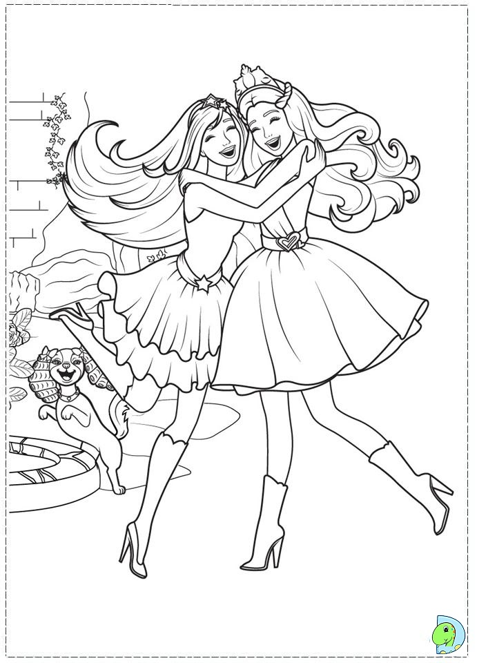 691x960 Barbie The Princess And Popstar Coloring Page Eclectic