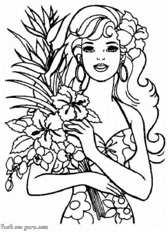 244x338 Printable Barbie Coloring Pages Characters Fargelegge Tegninger