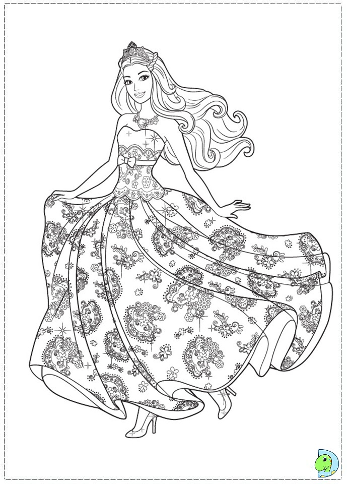 691x960 Coloring Page Child Princess Barbie The And