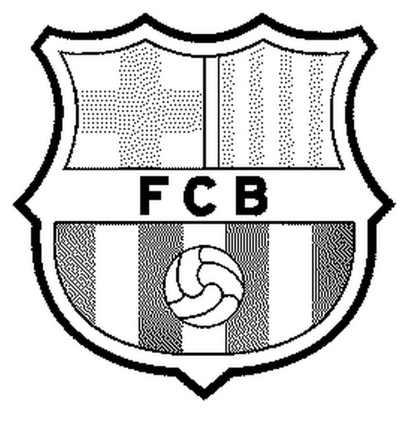 600x626 Coloring Page Soccer Fc Barcelona Badge 17