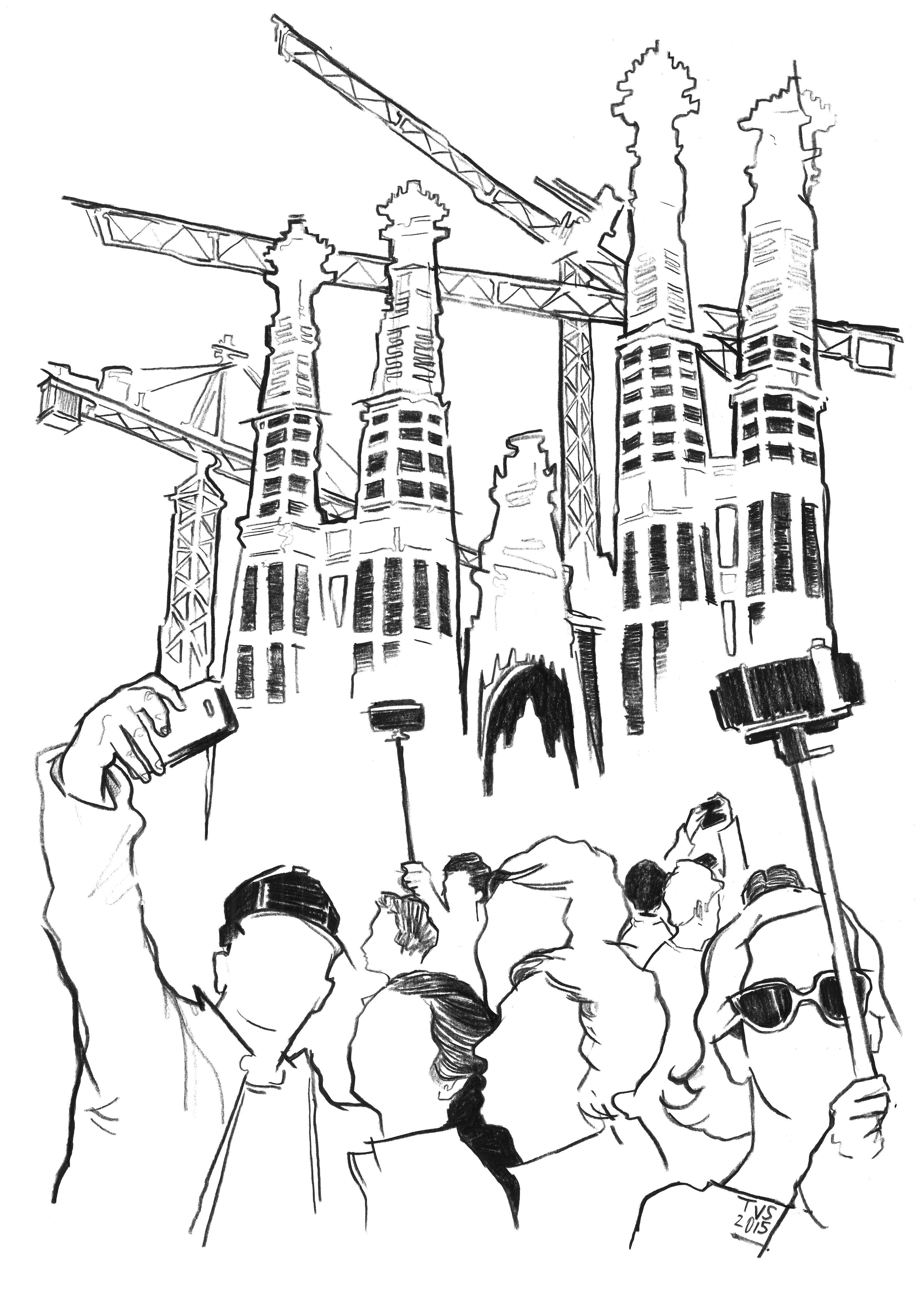 barcelona drawing at getdrawings com