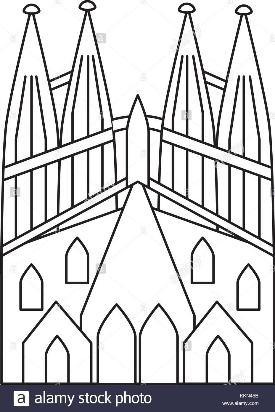 929x1390 Sagrada Familia Gaudi Basilica Temple Church In Barcelona Spain