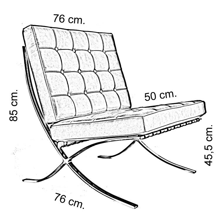 750x750 Barcelona Chair Drawing Move Your Mouse Over Image Or Chairs