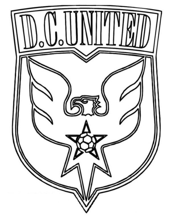 600x777 Dc United Logo Soccer Coloring Pages