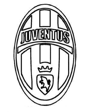 300x372 Juventus Logo Soccer Coloring Pages Coloring Pages