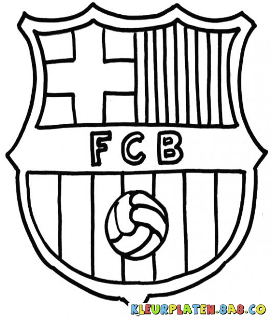 530x622 Barca Symbol Coloring Pages Barcelona Logo Coloring Pages