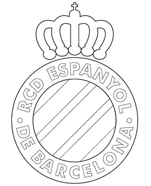 600x740 Printable Crest Of Espanyol Barcelona To Print Or Download For Free