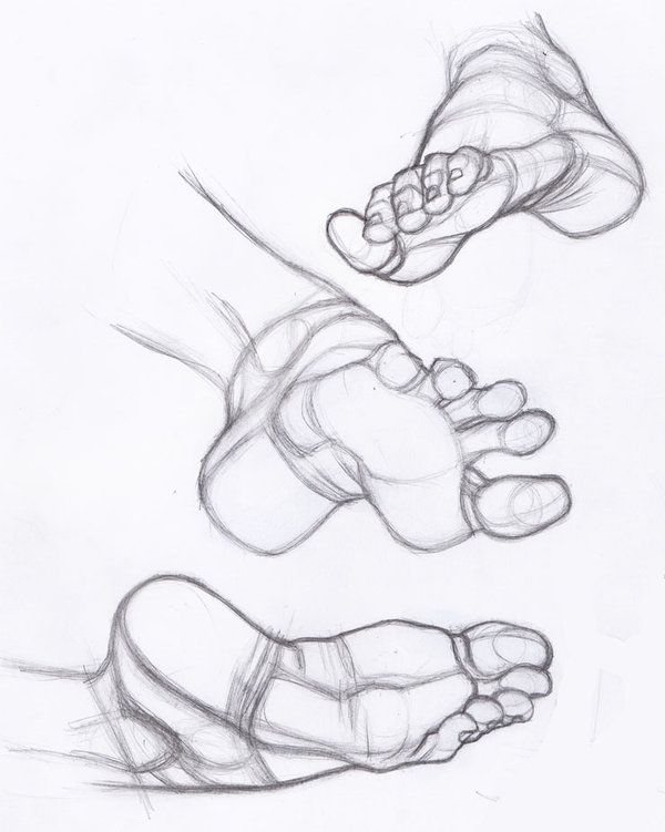 Bare Feet Drawing