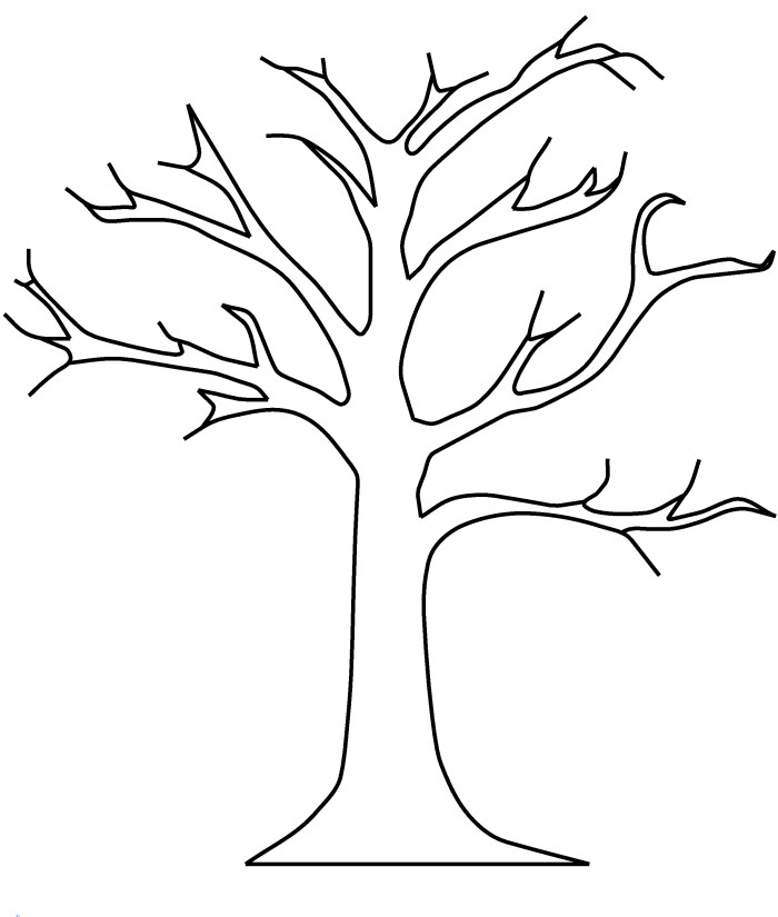 700x825 Coloring Pages Of Trees With Leaves Bare Tree Without Leaves