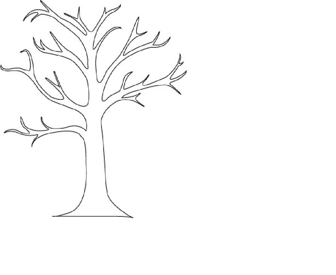 1073x877 Bare Tree Coloring Pages Color Bros