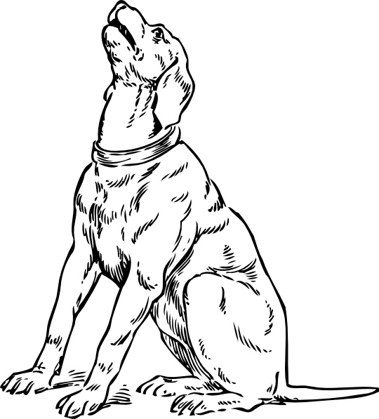 540x597 Barking Dog Clip Art Free Vector In Open Office Drawing Svg ( Svg
