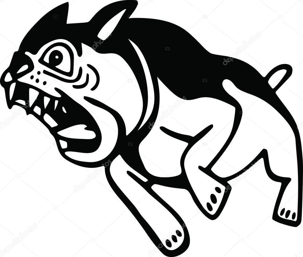 1023x868 Barking Angry Dog Stock Vector Prawny