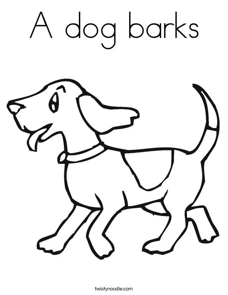 468x605 A Dog Barks Coloring Page