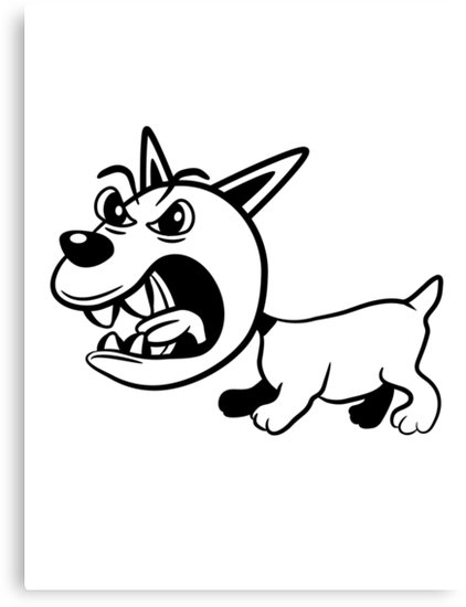 422x550 Dog Barking Angry Agro Canvas Prints By Motiv Lady Redbubble