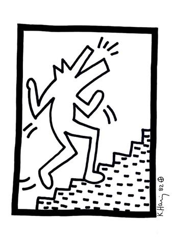 339x470 Barking Dog Climbing Stairs By Keith Haring On Artnet