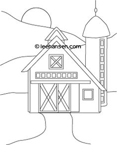 236x291 Black And White Cartoon Barn Clipart Outlined Barn With Hay