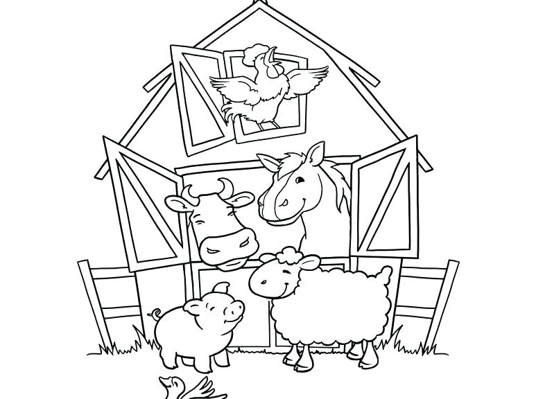 773x576 Barn Animals Coloring Pages Barnyard Animals Coloring Pages