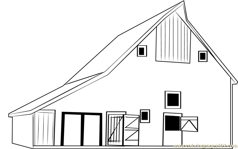 800x500 Barn Mattoon Coloring Page