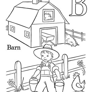 300x300 Drawing Barn Coloring Page Color Luna