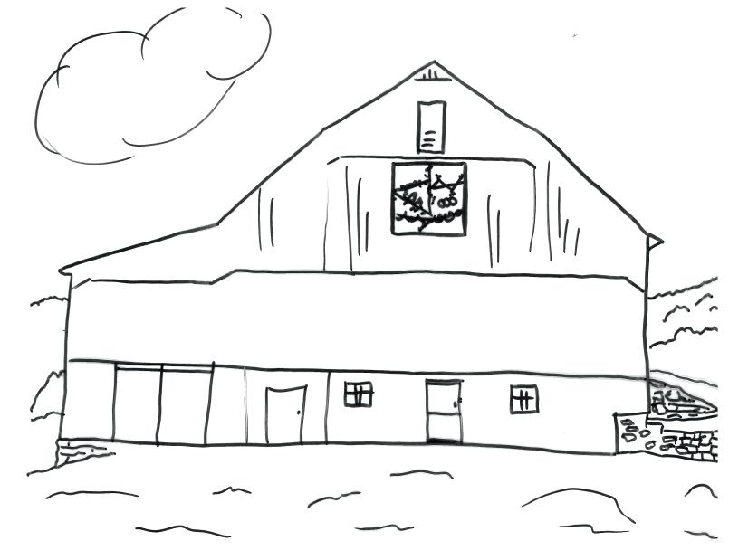 805x619 Barn Coloring Page Stable Coloring Page Horse Pages Awesome Draw