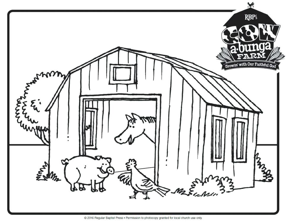 971x751 Barn Coloring Pages Free Awesome Draw Of A Barn Coloring Page Free